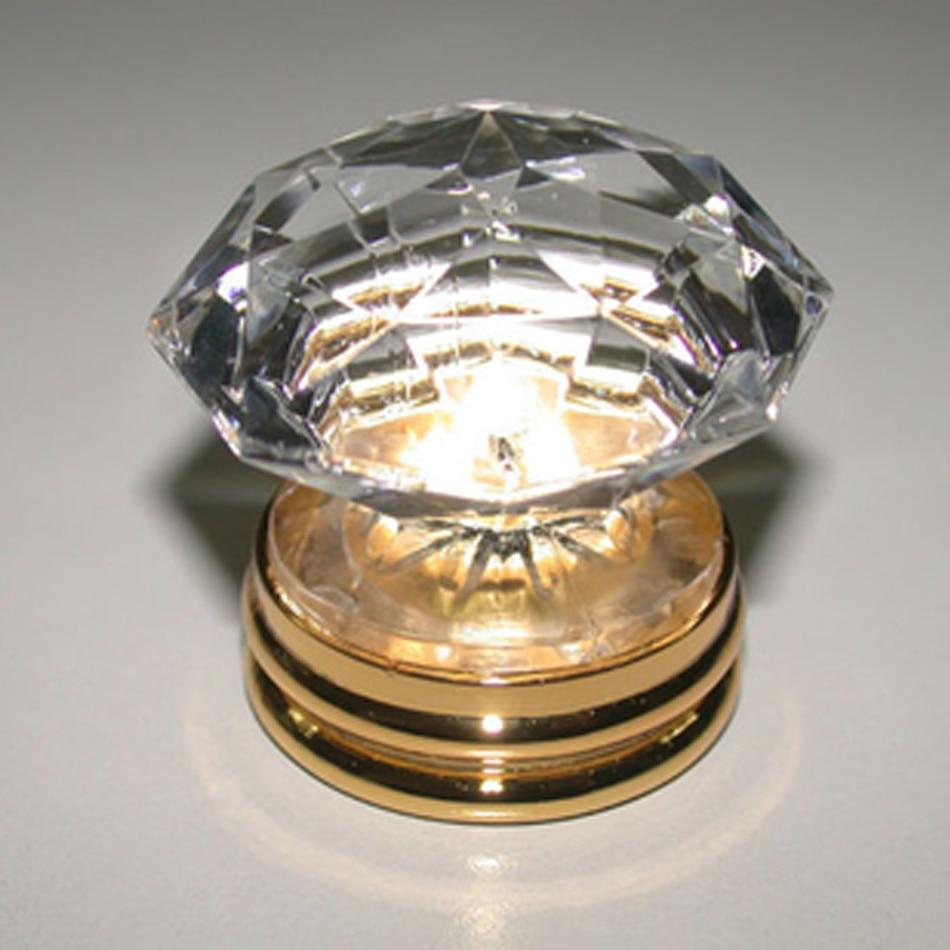 1pc Top Grade K9 Crystal Copper Furniture Handles Gold ...