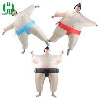 Sumo Inflatable Costume Adult Fancy Dress Sumo Suit Party Halloween Christmas Cosplay Costumes for Men Blue/Red/Black Costume