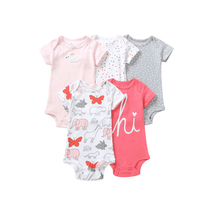 5 Pieces/Lot Infant baby bodysuits Soft cotton quality Ropa