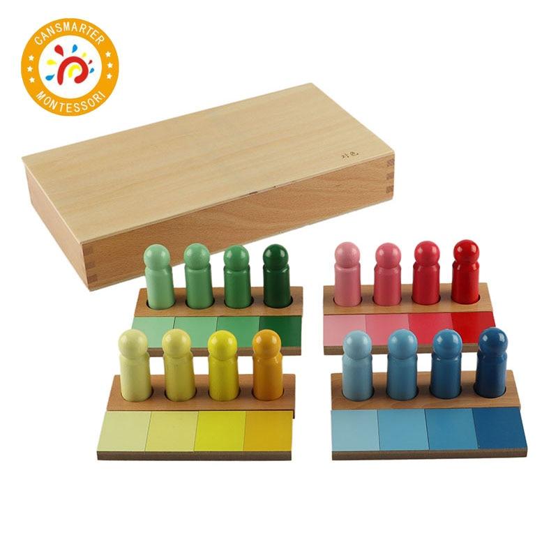 Montessori matériel de haute qualité en bois jouet couleur ressemblance tri tâche enfants jouet distinguer les couleurs