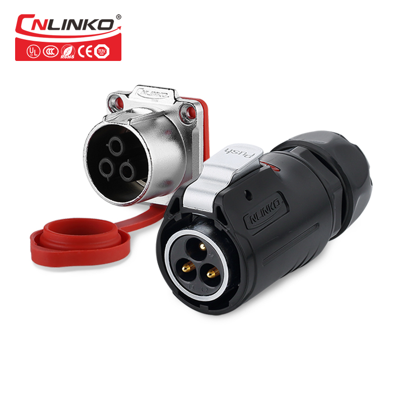 CNLINKO M24 de plástico 3 4 10 12 19 24 Pin IP67 conector impermeable fabricante de panel industrial macho hembra