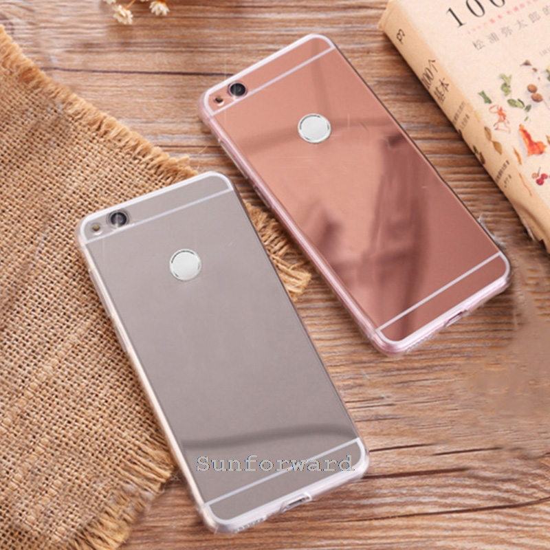 Mirror Slim Cases For Huawei P8 Lite  Case Silicon Cover For Huawei Honor 8 Lite Case P9 Lite  Gel Coque