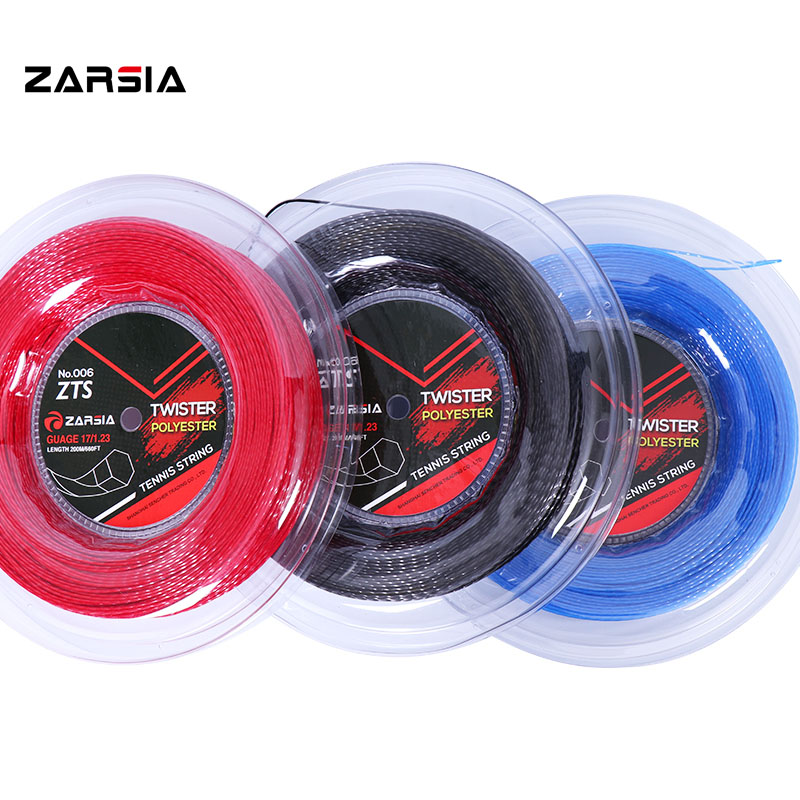 1 Reel ZARSIA High peformance HEXASPIN TWIST Tennis strings 1.23mm tennis racket string 200M big banger ZTS006 genuine brand zarsia hexaspin twister polyester tennis string 200m reel tennis string tennis racquet string 1 23mm 16g