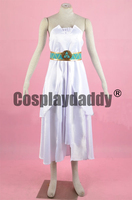The Legend of Zelda: Breath of the Wild Princess Zelda Goddess blood Princess White Dress Cosplay Costume F006