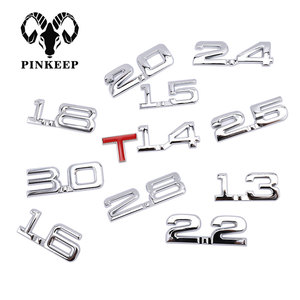 Car 3D Metal 1.6T 1.8T 2.2T 2.5T 3.0T Logo Sticker Emblem Badge Decals Auto Tail Sticker for BMW Mercedes Ford Audi Toyota Honda(China)