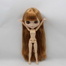 Factory Neo Blythe Doll Brown Straight Hair Jointed Body 30cm
