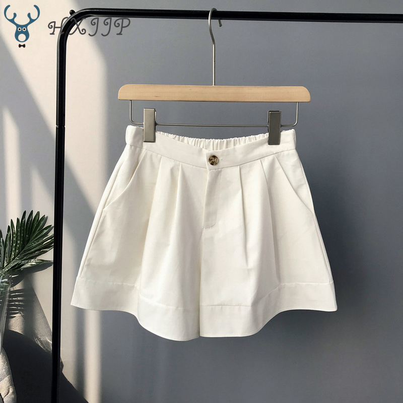2019 New Summer Hot Fashion New Women Shorts Skirts High Waist Casual Suit Shorts Black White Women Short Pants Ladies Shorts in Skirts from Women 39 s Clothing