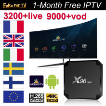 France IPTV Italy Germany X96 mini with 1 month Italian French Canada Portugal TV Box 4k Spanish Turkey IP Code