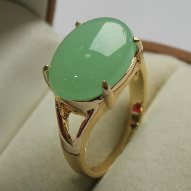 4fc217e847a78 US $8.61 18% OFF|wonderful jewelry! lady's noblest GP light green jades  ring (7,8,9#)-in Rings from Jewelry & Accessories on Aliexpress.com |  Alibaba ...