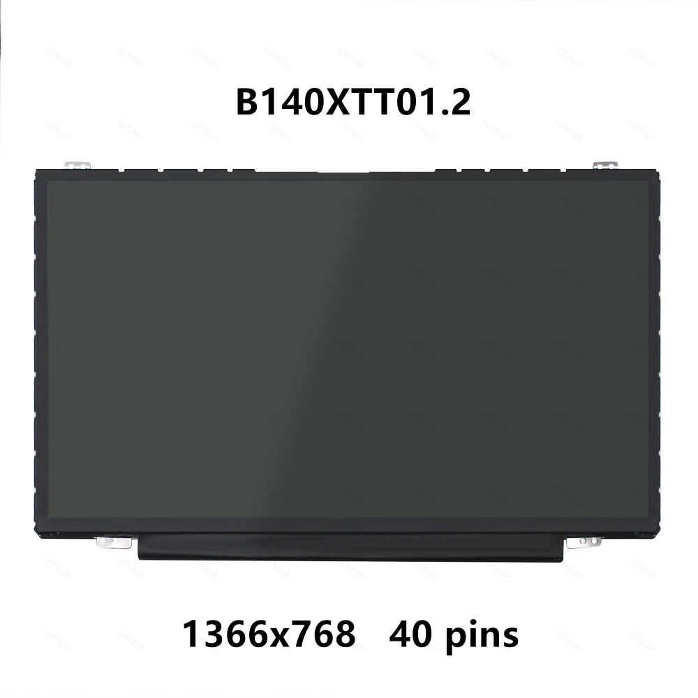14'' LCD Screen Display Panel Matrix with Touch Digitizer B140XTT01.2 For Dell Inspiron 3000 3442 7P07H52 H/W:5A F/W:1 1366X768