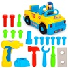 HUILE TOYS 789 Bump N Go Toy Truck With Electric Drill And Various Tools Lights And