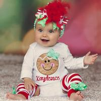 Christmas 2017 Baby Boy Girl Clothes Romper Bodysuit Leg Warmer Outfits Halloween