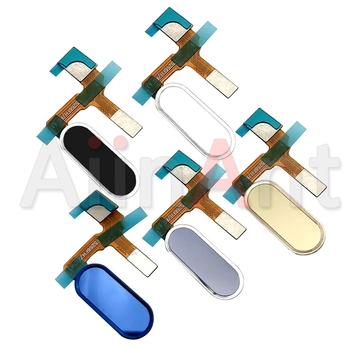 цена на AiinAnt Original Home Return Button Key Touch ID Fingerprint Sensor Flex Cable For Huawei Honor 9 Phone Connector Parts