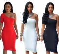 Casual Womens Dresses New Arrival 2017 Summer Robe Sexy Party Club Fittness Dresses Red White Black Ladies Bodycon Dress Vestido