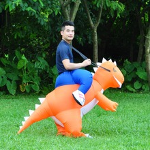Inflatable Dinosaur Costume Adult Kids T Rex Dino Rider Outfit Cosplay Purim Halloween Dragon Party Carnival Blow Up Fancy Dress