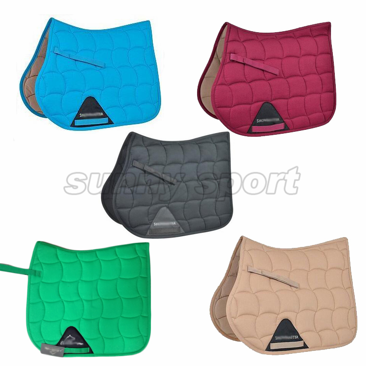 Exports to Germany high quality classic style big wave quilted saddle pad sweat pad triangle cloth