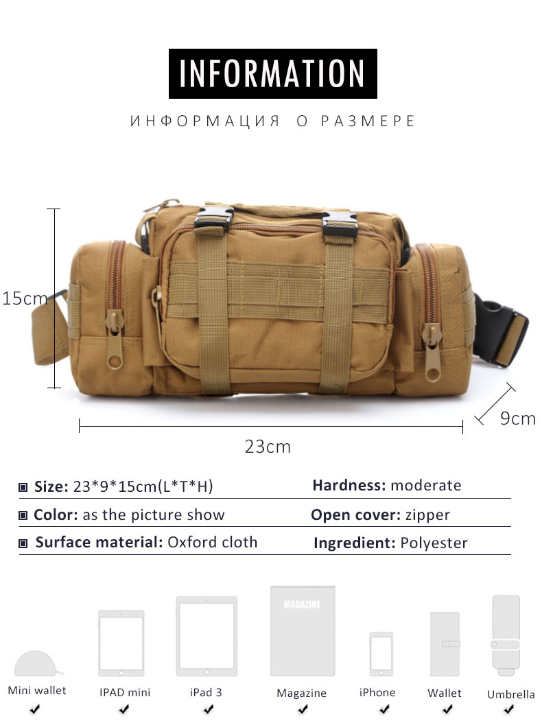HTB1VYvFwIyYBuNkSnfoq6AWgVXak - Outdoor Military Tactical Waist Bag Waterproof Nylon Camping Hiking Backpack Pouch Hand Bag military bolsa Style mochila