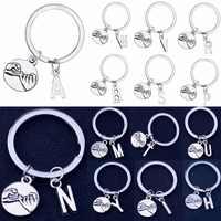 Initial Letter A-Z Pinky Swear Gesture Charm Keyring Best Friend Lovers Couple Promise Gift Key Chain Men Women Keychain Jewelry