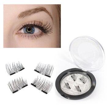 YOKPN Magnet 3D False Lashes Eye Lashes Beauty Makeup Tips Reusable False Eyelashes Hand Made Sharpening Magnetic Fake Eyelash