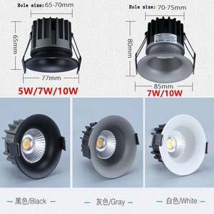 Image 2 - Dimmable Led Anti glare downlight COB Spot Light Bulb 5w 7w 10w 110V 230V 240V LED Lamp ceiling recessed Lights Indoor Lighting