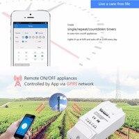 Sonoff G1 WiFiสมาร์ทสวิทช์GPRSสวิทช์GSMโทรศัพท์มือถือการควบคุมระยะไกลสวิทช์ปั๊มน้ำไฟกลางแจ้งใช้