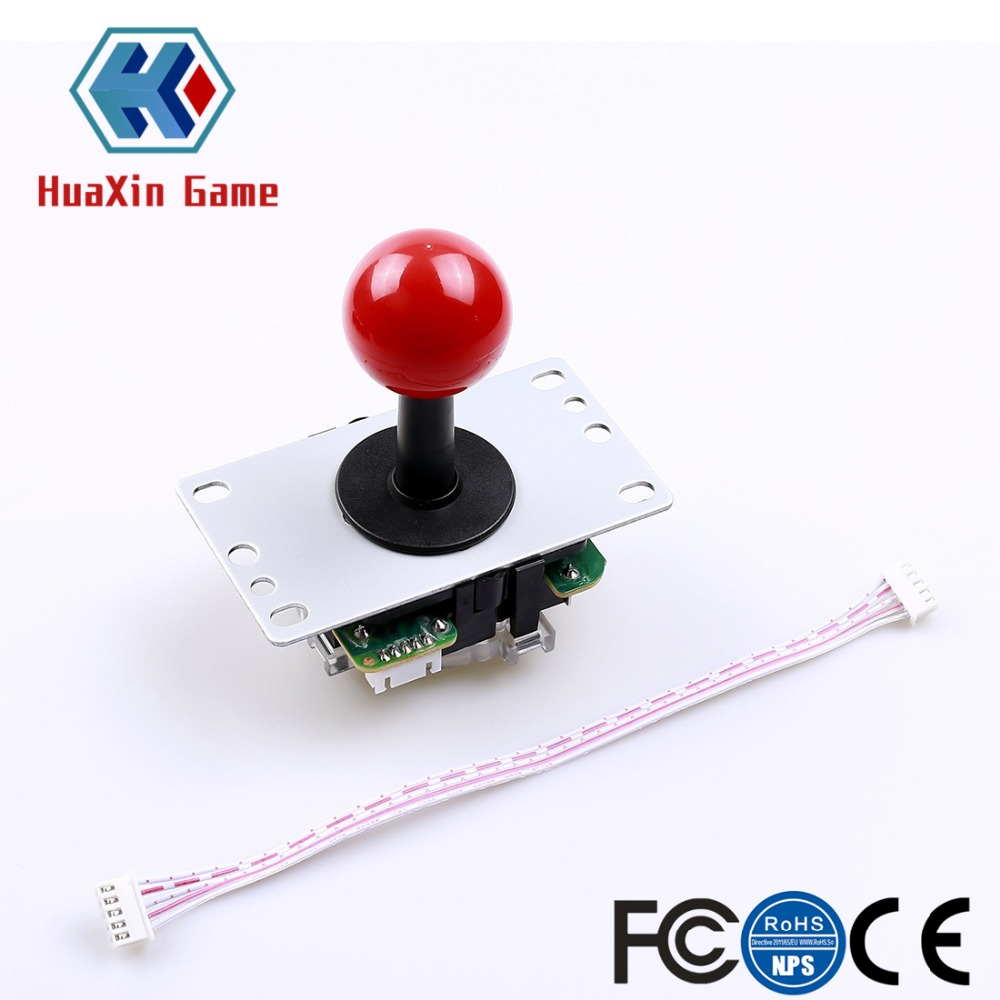 Arcade Game DIY Kit Push Button with Translucent Rim + Zero Delay USB Encoder + 5 Pin 8 Way Joystick For PC and Raspberry Pi