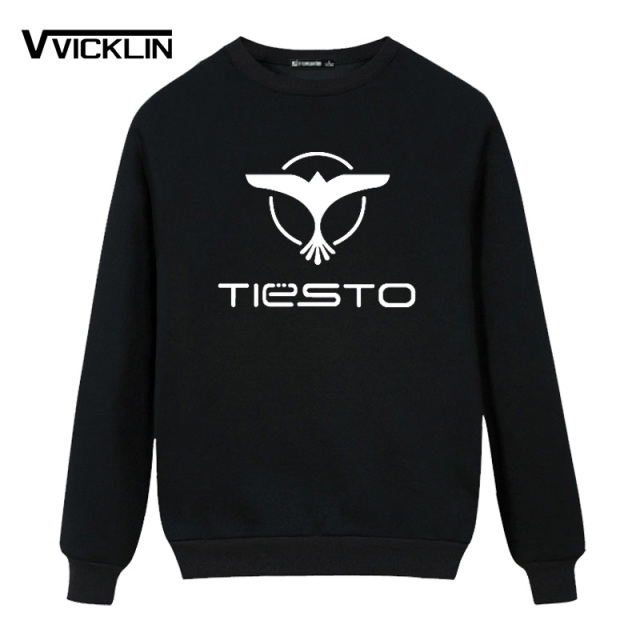 2017 DJ Tiesto Trance Printed Hoodies Sweatshirt Fleece O Neck Sweatshirt Men's Music Casual Cotton Long Sleeve Top Clothing