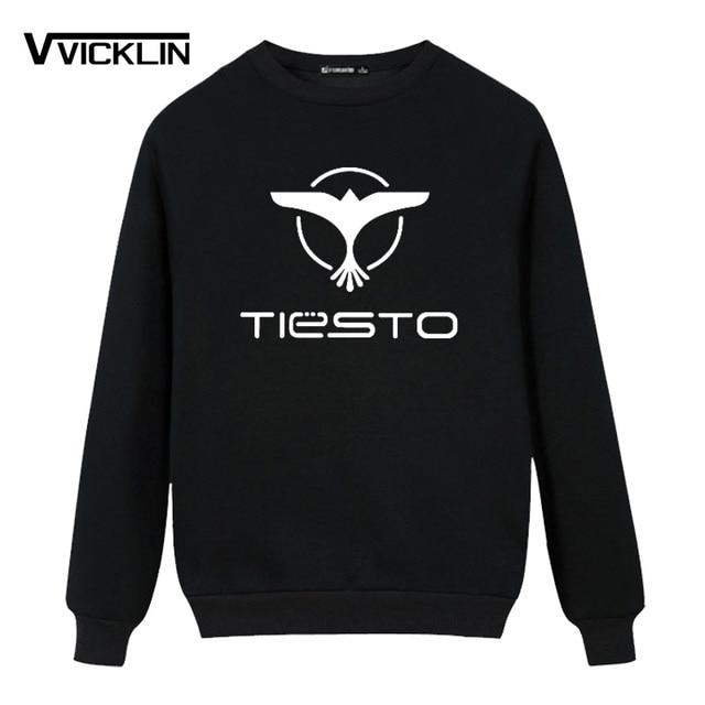 2017 DJ Tiesto Trance Printed Hoodies Sweatshirt Fleece O Neck Sweatshirt Men's Music Casual Cotton Long Sleeve Top Clothing