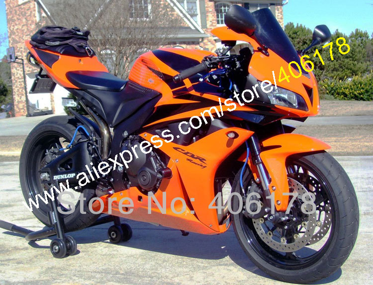 Hot Sales,CBR600 ABS Fairing CBR600RR 600RR F5 07 08 CBR600RR 2007 2008 Orange Body Kit Bodywork fairing (Injection molding) блокнот невозможное возможно крафт