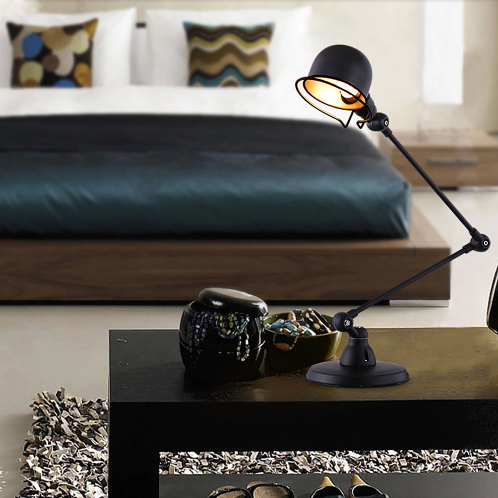 Creative industry iron mechanical table lamp sleek profile high creative industry iron mechanical table lamp sleek profile high temperature paint lampshade led e14 lamp holder in desk lamps from lights lighting on geotapseo Choice Image