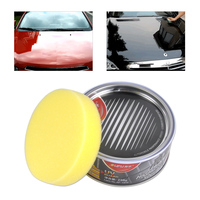 High Grade Car Solid Wax Ultra High Gloss Versatile Paint Cleaner Polish With Free Sponge 8