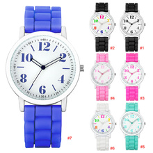 Women Watch Candy Colors Casual Silicone Wristwatch Small Simple Coulful Numbers Dial Girls Watch Relogio Feminino Clock LL@17