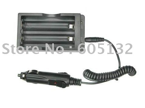 Free shipping + AC Wall/Home Charger with Car charger for Li-ion 18650 Battery