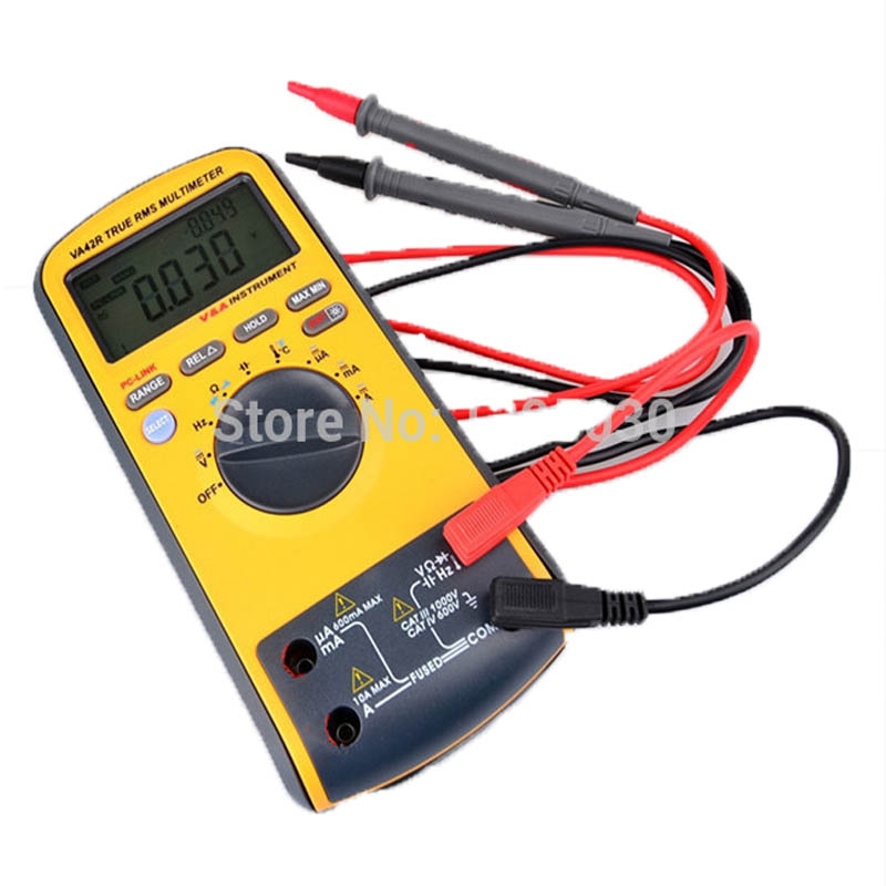 1PC VA42R 6600 Counts TRUE RMS Safety Digital Multimeter Fit Backlight with USB Interface VA42R with English manual1PC VA42R 6600 Counts TRUE RMS Safety Digital Multimeter Fit Backlight with USB Interface VA42R with English manual