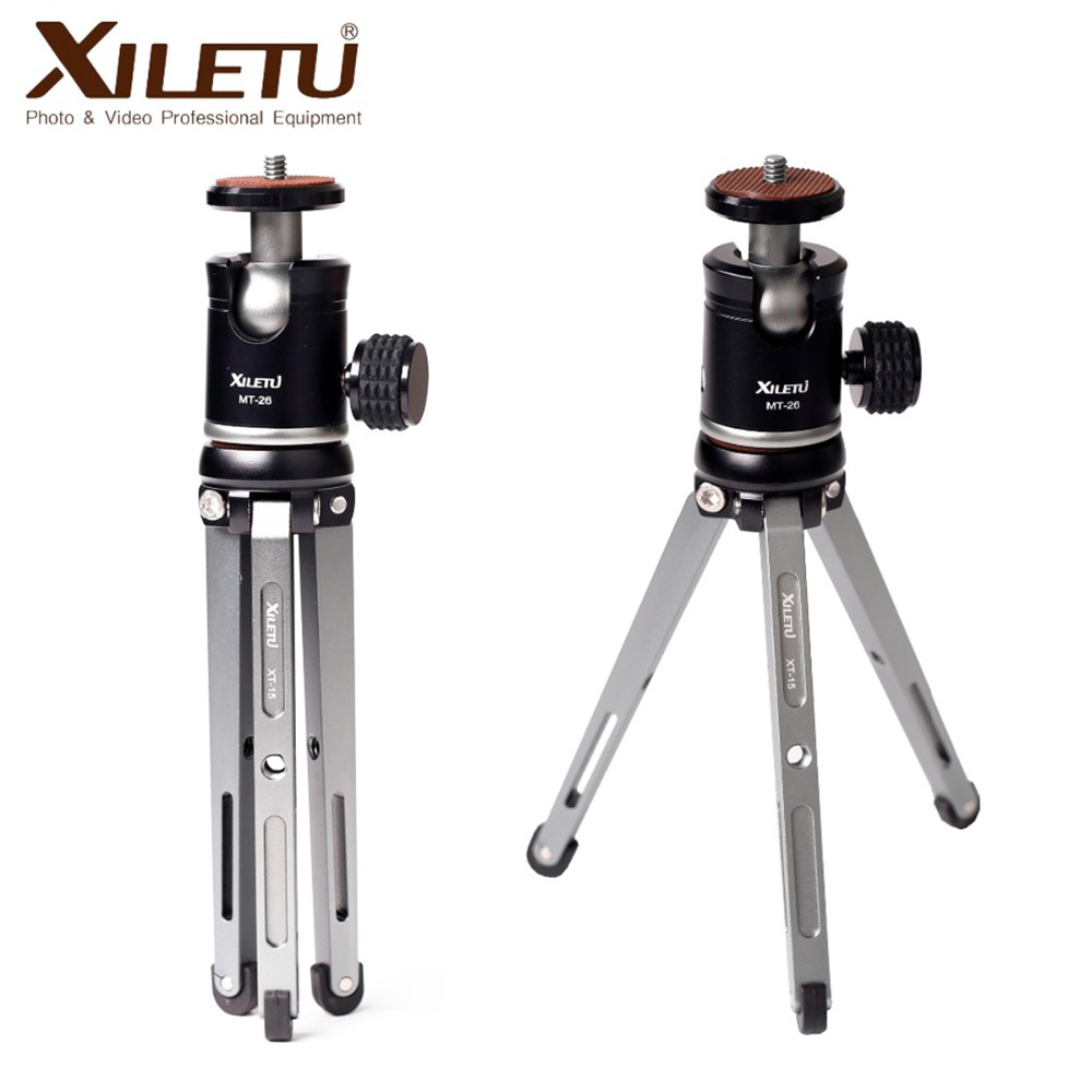 Ulanzi XILETU Mini Aluminum Alloy Tripod Monopod Flexible Camera Holder With 360 Degree Rotated Ballhead For Gopro 7 DSLR Camera