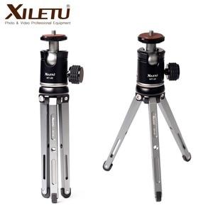 Image 1 - Ulanzi XILETU Mini Aluminum Alloy Tripod Monopod Flexible Camera Holder W 360° Rotated Ballhead For Canon Nikon Sony DSLR Camera