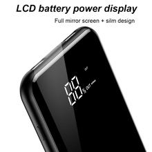 2 in 1 8000mAh QI Wireless Charger + Power Bank For iPhone Samsung with Phone Stand LCD Display Dual USB Fast Charger Wireless Powerbank