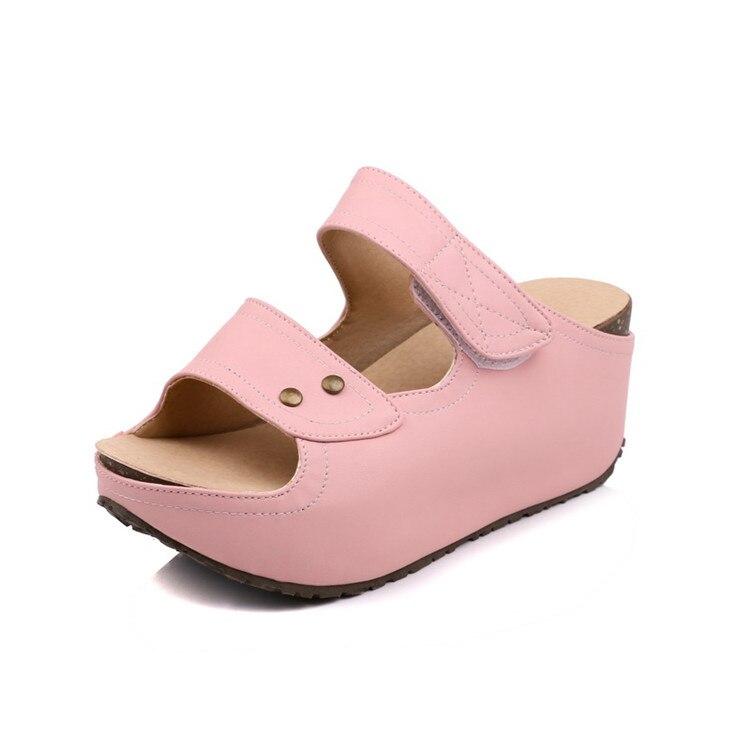 MLJUESE 2018 sieviešu čības vasaras āra stilā Rozā krāsas - Sieviešu apavi