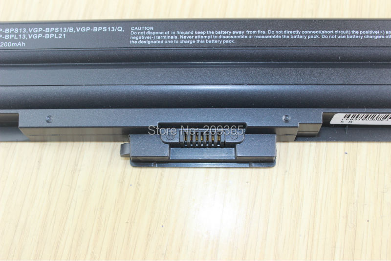 Image 5 - 5200mAh 6Cell Laptop Battery for SONY VAIO VGP BPS13/S VGP BPS13A/S VGP BPS21/S VGP BPL21A VGP BPS13A/B VGP BPS21B VGP BPL13-in Laptop Batteries from Computer & Office