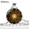 NS-00806 chakra Spiritual Buddhist Sri Yantra Pendant Necklace Sacred Geometry Sri Yantra Jewelry meditation Necklace HZ1