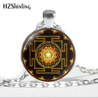 NS-00806 chakra Spiritual Buddhist Sri Yantra Pendant Necklace Sacred Geometry Sri Yantra Jewelry meditation Necklace HZ1