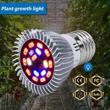 LED Plant Grow Light E27 Full Spectrum Led Lamp E14 220V Growing Led Bulb 18W 28W Flowers Seedling Phyto Lamp For Garden 110V цена и фото