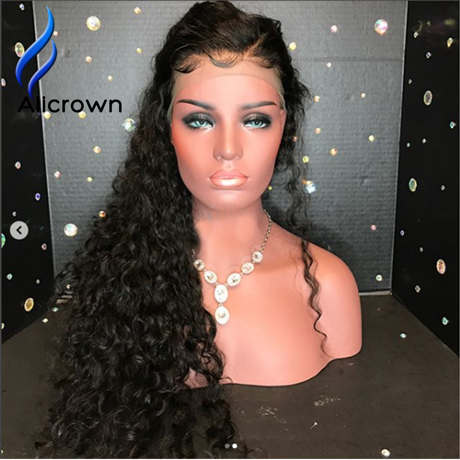 Hair Extensions & Wigs Alicrown 13*6 Deep Part Curly Brazilian Lace Front Human Hair Wigs With Baby Hair Remy Hair Lace Wig Pre Plucked Bleached Knots