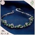 Venda quente da Qualidade Superior Luxuoso Presente Jóias 925 Sterling Silver CZ Pulseira Para Senhoras de Pavimentação
