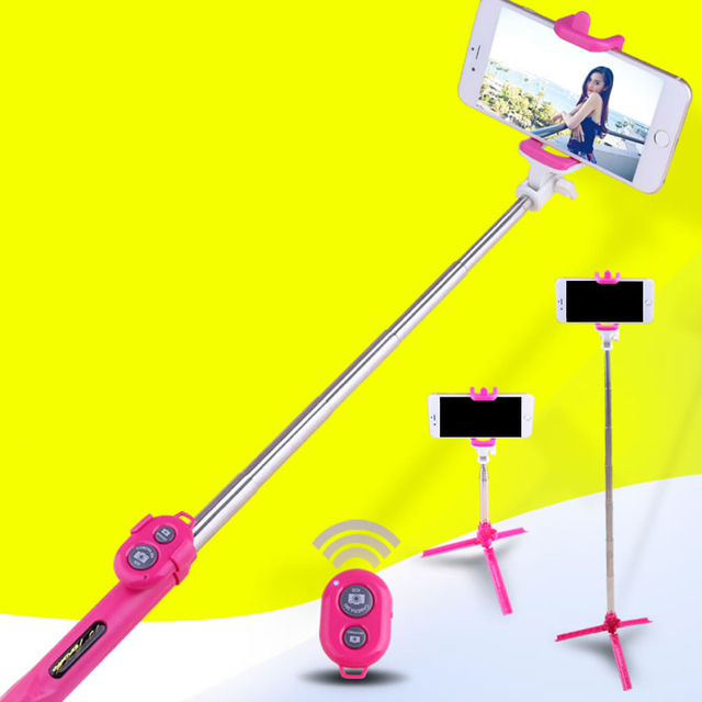 Universal Android/IOS Phone Folding Extendable Selfie Stick Auto Selfie Stick Tripod+Clip Holder+Bluetooth Remote Controller Set