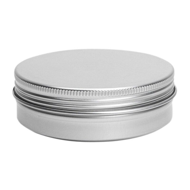 5 X Empty Cosmetics Pot Lip Balm Tin Jar Container Screw 100ml