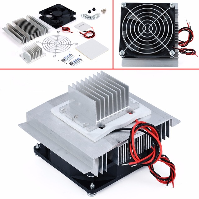 DC 12V Thermoelectric Peltier Refrigeration Cooling System Semiconductor  Air Conditioner Cooler DIY Kit-in Instrument Parts & Accessories from Tools