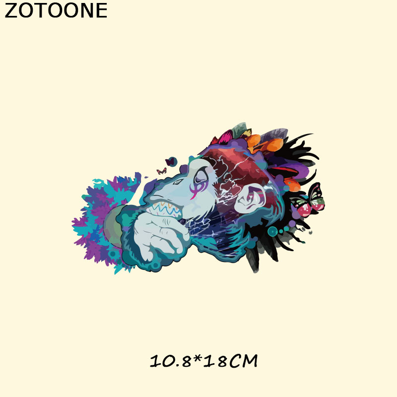 ZOTOONE Watercolor Animal Iron on Patches A level Washable Stickers Easy Print By Household Irons T shirt Dresses DIY Accessory in Patches from Home Garden