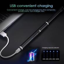 USB перезаряжаемые дуговые зажигалки подарок Ветрозащитный Электрический металлический корпус газовая зажигалка кухня открытый барбекю кемпинг огонь стартер