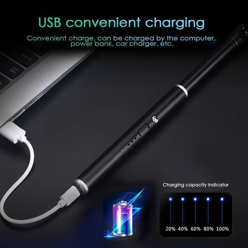 USB Rechargeable Arc Lighters Gift Windproof Electric Metal Shell Gas Lighter Kitchen Outdoor Barbecue Camping Fire Starter|Kitchen Lighters|   - AliExpress